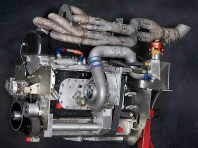Das Bullett engine--The 2007 - 2009, FBGL engine, 1959 Mercedes-Benz 3-liter in-line 6-cylinder, Single overhead cam, Supercharged and intercooled, Fully programmable EFI, 425 horsepower at 20 psi, Top speed 227mph, FBGL Record 218 mph
