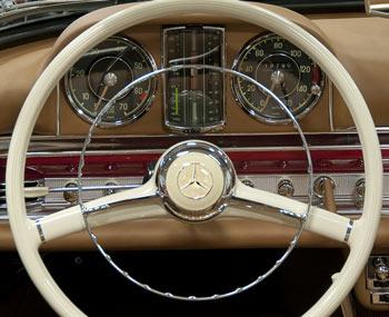 Mercedes Benz 300sl Steering Wheel And Dashboard Restoration